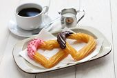 picture of churros  - homemade heart shape churro - JPG