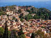 Taormina - Sicilian tourist resort poster