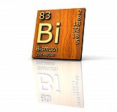 Bismuth Form Periodic Table Of Elements - Wood Board poster