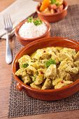 stock photo of curry chicken  - chicken and curry sauce - JPG