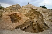 image of jericho  - Old ruins in Tell es - JPG