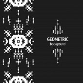 picture of aztec  - Vector Geometric background - JPG