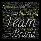 pic of text cloud  - Concept or conceptual leadership marketing or business text word cloud isolated on background - JPG