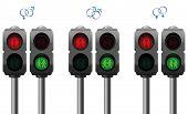 pic of pedestrians  - Pedestrian lights with a heterosexual - JPG