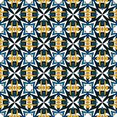 stock photo of tile  - Seamless pattern illustration in traditional style  - JPG