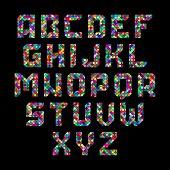 stock photo of alphabet  - Mosaic alphabet - JPG