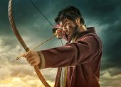 picture of archery  - The men - JPG