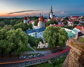 pic of olaf  - Aerial View of Tallinn Old Town from Toompea Hill in the Evening Tallinn Estonia - JPG