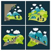 picture of lats  - Set of vector lat style outdoor leisure pictures - JPG