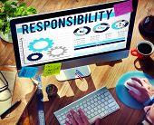 stock photo of responsible  - Responsibility Duty Job Reliablity Trust Concept - JPG