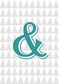 pic of ampersand  - Ampersand print design illustration card on triangle background - JPG