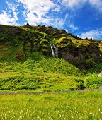 stock photo of fall day  - A warm summer day in Iceland - JPG