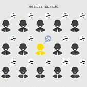 picture of think positive  - Positive thinking concept - JPG