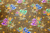 pic of batik  - popular batik sarong pattern background in Thailand traditional batik sarong in Asian - JPG