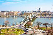 foto of chains  - Landmark of Budapest - JPG