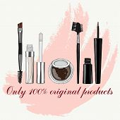 picture of  eyes  - set of makeup for the eyes  - JPG