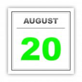 picture of august calendar  - August 20 - JPG