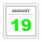 pic of august calendar  - August 19 - JPG