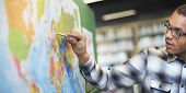 Teacher Teach Teaching Geography Global Lesson Concept poster