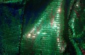 Green Fish Scale Fabric 02
