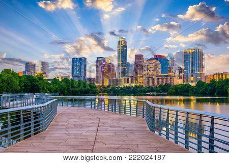 Austin Texas USA downtown skyline