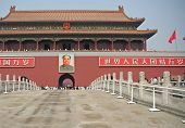 foto of zedong  - Main entrance to the Forbidden city from the Tiananmen Square