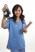 picture of filipino  - Attractive asian filipino nurse doctor healthcare worker - JPG