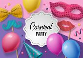 Carnival Party Background poster