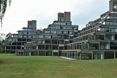 picture of ziggurat  - the halls of residence of the university of east anglia - JPG