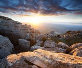 Mountains Sierra Del Torcal in Spain