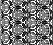Grey Black And White Vintage Seamless Pattern. Hand Drawn Watercolor Ornament. Remarkable Repeating  poster