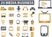 media business. vector