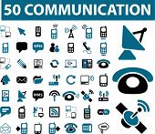50 HQ communication signs. vector