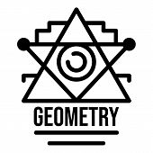 Geometry Alchemy Icon. Outline Geometry Alchemy Vector Icon For Web Design Isolated On White Backgro poster
