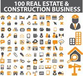 100 real estate & construction business signs. vector