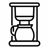 Domestic Coffee Machine Icon. Outline Domestic Coffee Machine Vector Icon For Web Design Isolated On poster