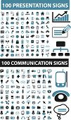 200 presentation & communication signs. vector
