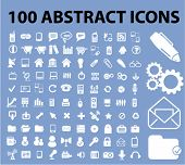 100 abstract icons set, vector
