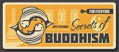 Buddhism Religious School, Learning And Teaching Center Vector Buddhist Spiritual Tranquility And Dh poster
