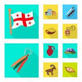 Vector Design Of Culture And Sightseeing Symbol. Set Of Culture And Originality Vector Icon For Stoc poster