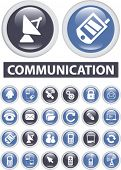 stock photo of televisor  - communication buttons - JPG