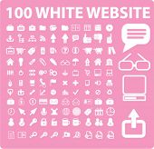 100 website icons set, vector