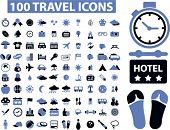 100 travel icons set,vector