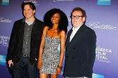 NEW  YORK - APRIL 21: Brendan Fraser, Yaya DaCosta and Colm Meaney attend the
