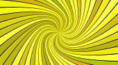 Yellow Psychedelic Abstract Spiral Ray Burst Stripe Background - Vector Graphic poster