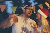 Couple Having Fun At New Years Party poster
