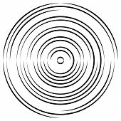 Concentric Circle Elements Backgrounds. Abstract Circle Pattern. Black And White Graphics. poster
