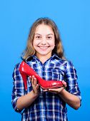 Little Fashionista With High Heels. Crazy About High Heels. Female Attribute. Shoes Shop. Play With  poster