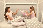 Evening Time For Fun. Sleepover Party Ideas. Girls Happy Best Friends Or Siblings In Cute Stylish Pa poster