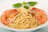 Plain Spaghetti With Shrimps poster